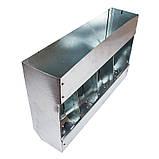Бункерная кормушка для кроликов 4 отд. метал., фото 3