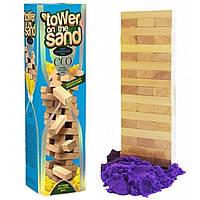 Настольная игра Дженга на кинетическом песке VEGA Danko Toys 7903DT