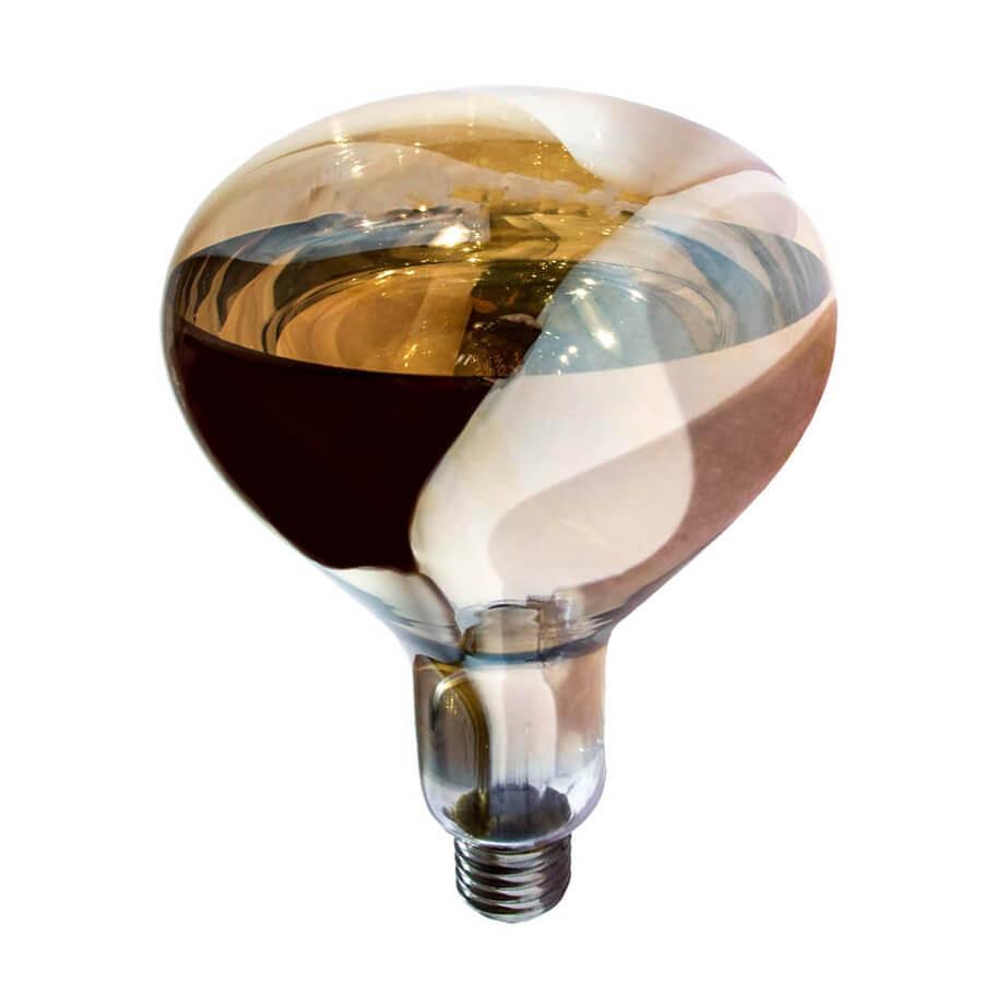Лампа инфракрасная R125 100 Вт бронза LO