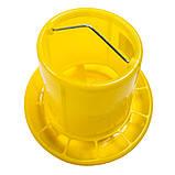 Бункерная кормушка 5,9 л / 3,9 кг для бройлеров, кур несушек, индюков, перепелов, фазанов, фото 2