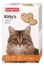 Кормова добавка для кішок Beaphar (Беофар) Kittys Taurin and Biotin біотином і таурином, 1 шт