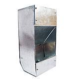 Бункерная кормушка для кроликов 1 отд. металлическая  24х9х9, фото 2