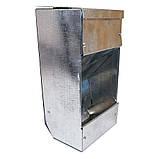 Бункерная кормушка для кроликов 1 отд. метал. с крышкой, фото 2