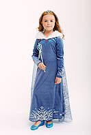 Карнавальное велюровое платье принцессы с мехом, фото 1