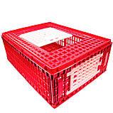 Маленький ящик для перевозки живой птицы с верхней и боковой дверцами 77х57х29, фото 2