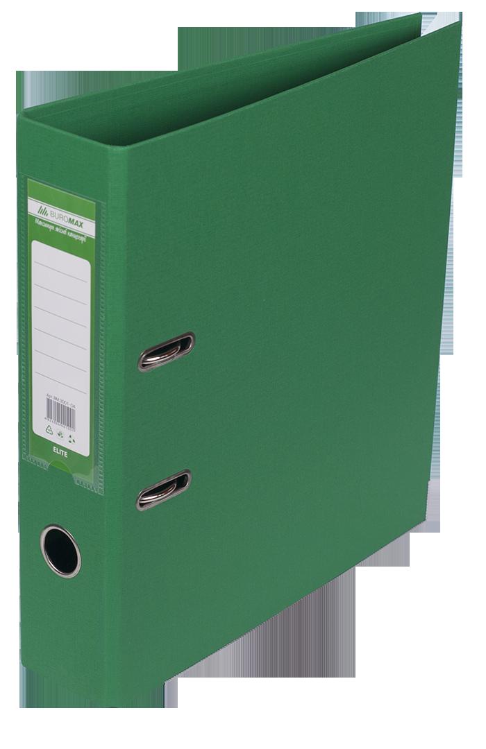 Папка регистратор ELITE двусторонняя A4, 70 мм, зеленый