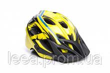 Шолом велосипедний OnRide Rider M Yellow-Blue SKL35-187703