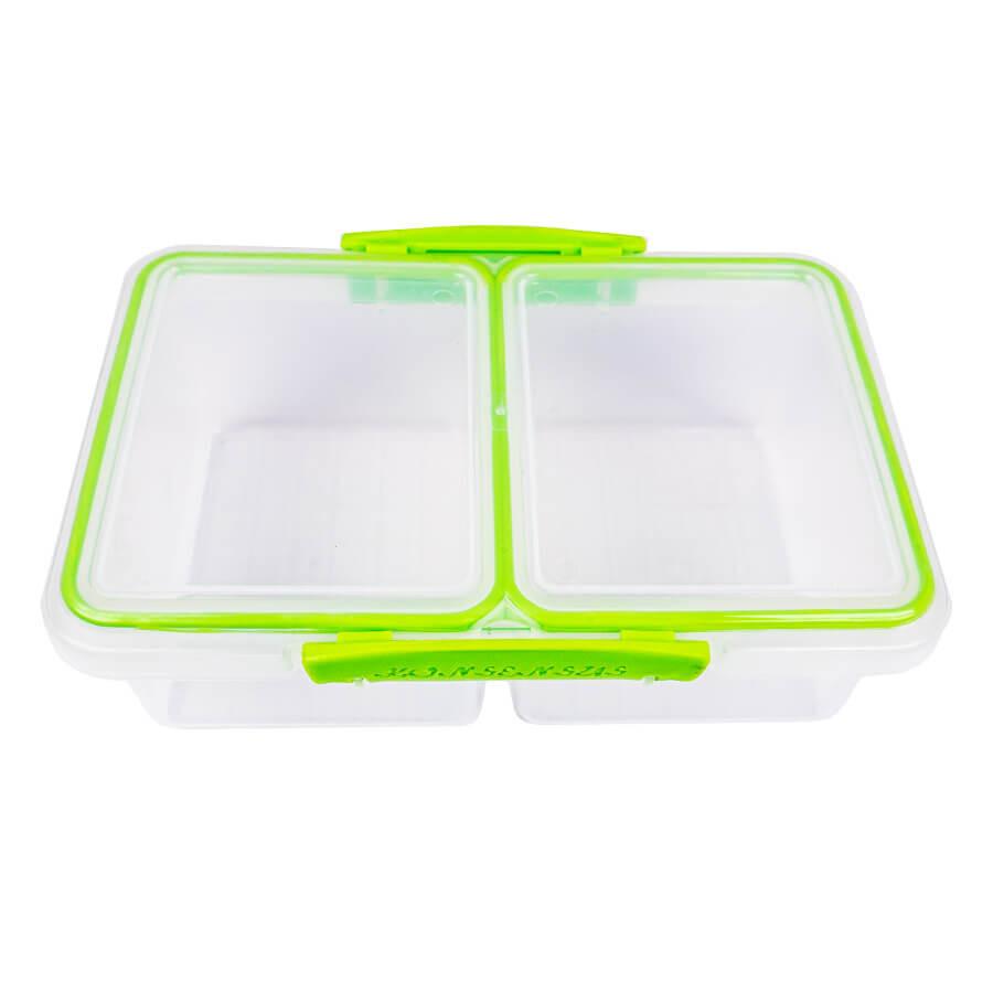 Контейнер для продуктов прямоугольный 1 л двойной (с прокладкой)