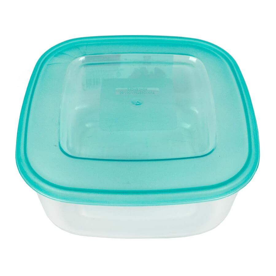 Пластиковый контейнер для продуктов квадратный 0,5 л