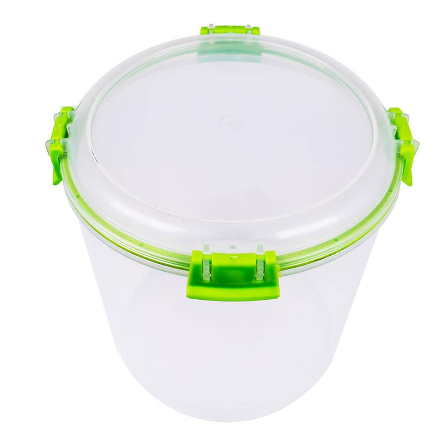 Пластиковый контейнер для продуктов круглый 2,2 л (с прокладкой)