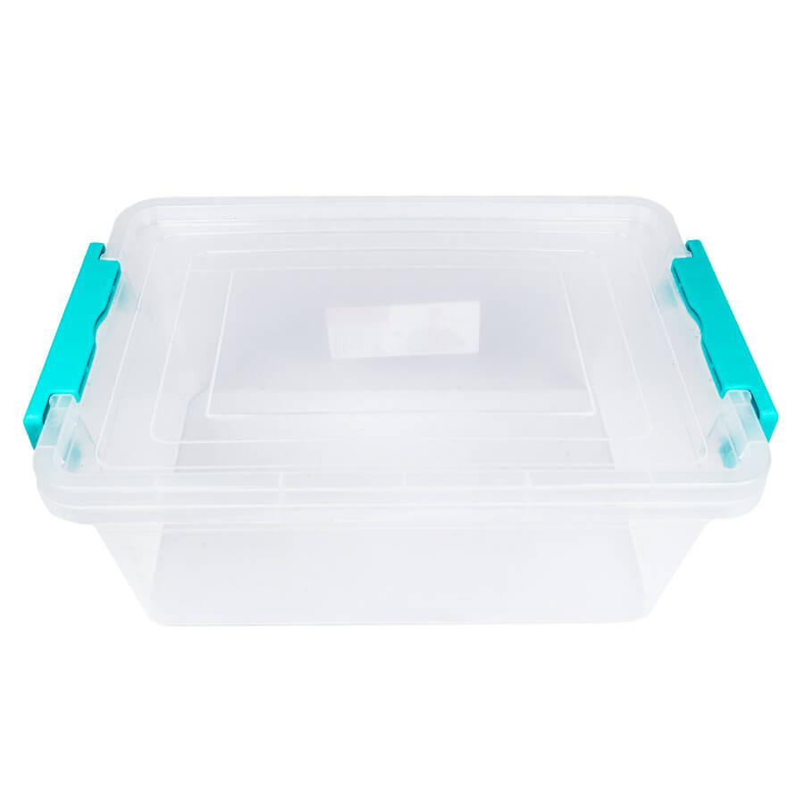 Пластиковый контейнер для продуктов прямоугольный 5 л на защелках