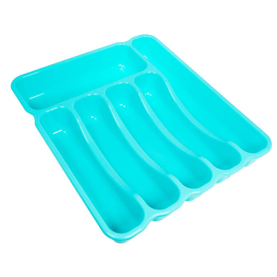 """Лоток пластиковый для столовых приборов """"Господарочка"""" (бирюзовый)"""