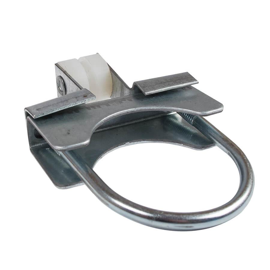Соединитель для трубы кормораздачи 45 мм с фиксатором троса