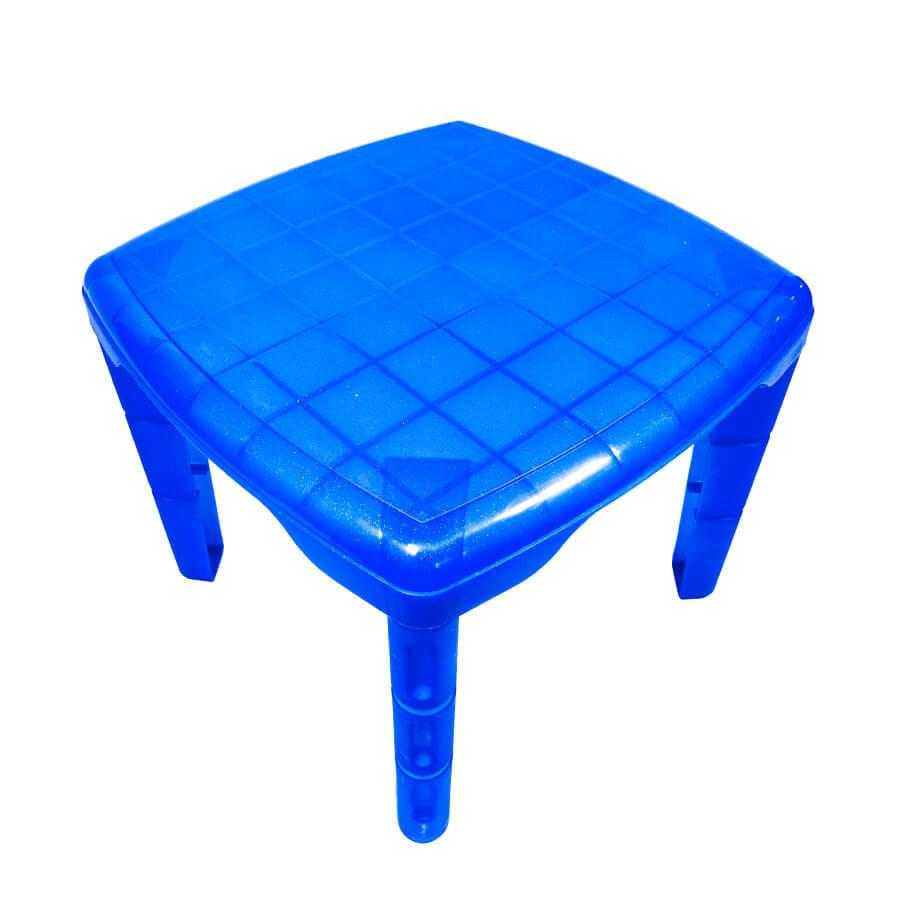 Детский пластиковый квадратный стол (синий)