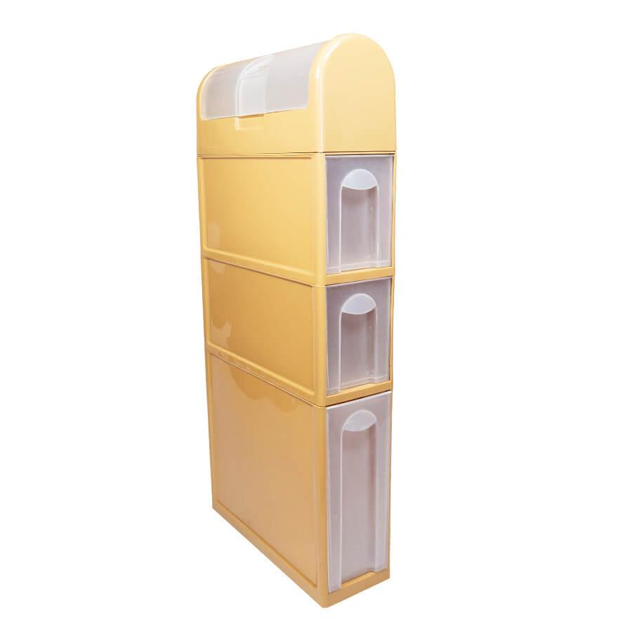 Пластиковый шкаф для ванной комнаты (бежевый)