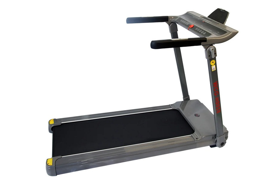 Беговая дорожка электрическая WCG-H0058 складная для дома и зала (бігова доріжка до 110 кг серая компактная)