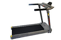 Беговая дорожка электрическая WCG-H0058 складная для дома и зала (бігова доріжка до 110 кг серая компактная), фото 1