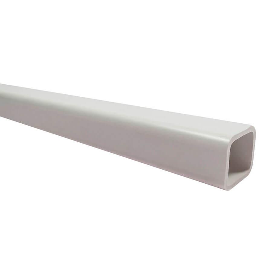 Труба ПВХ квадратная 22х22 мм Эконом бел. 2 мм