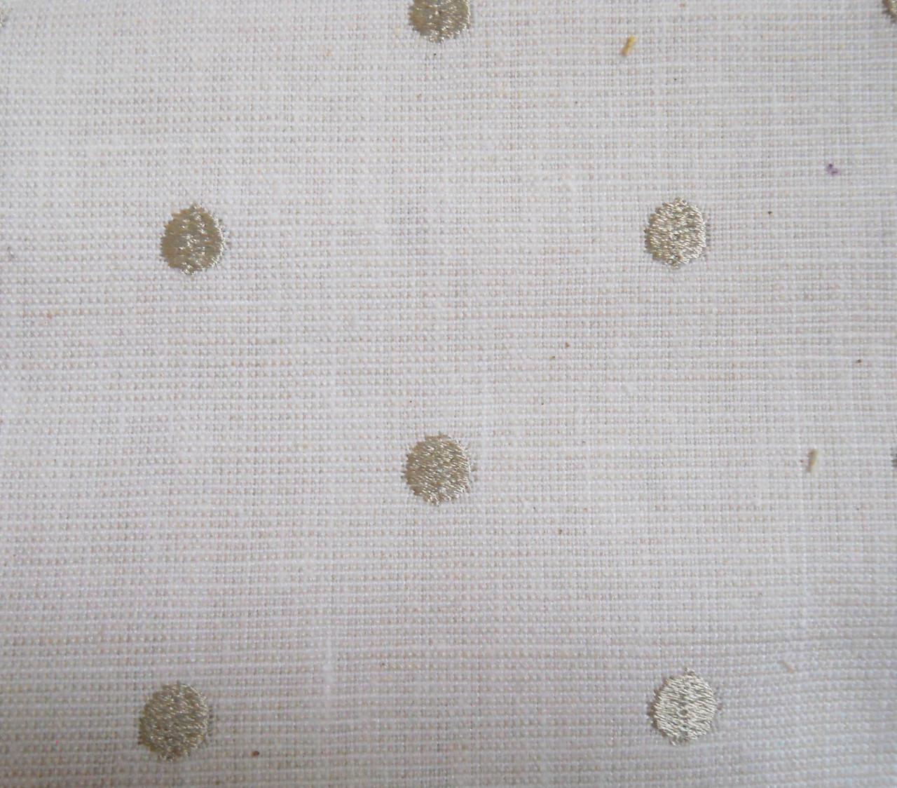 Портьерная ткань STUD 01 CREAM