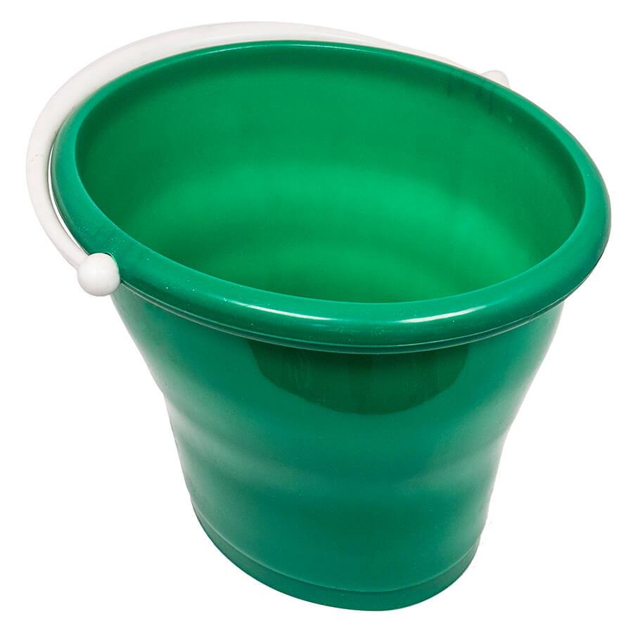 Ведро овальное без крышки на 12 л (зеленое)
