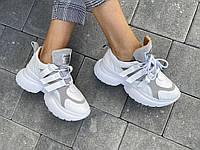 Женские ботинки кожаные весна/осень белые Mkrafvt Fashion 2142. Сапоги, кроссовки. Женская обувь