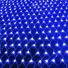Гирлянда сетка светодиодная 120 LED, Голубая (Синяя), прозрачный провод, 1,5х1,2м., фото 4