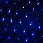 Гирлянда сетка светодиодная 120 LED, Голубая (Синяя), прозрачный провод, 1,5х1,2м., фото 6
