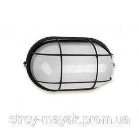 """Светильник настенно-потолочный """"ПРОМ"""" Ecostrum стекло-металл, черный, Е27, 60/75W, IP54 с решеткой"""