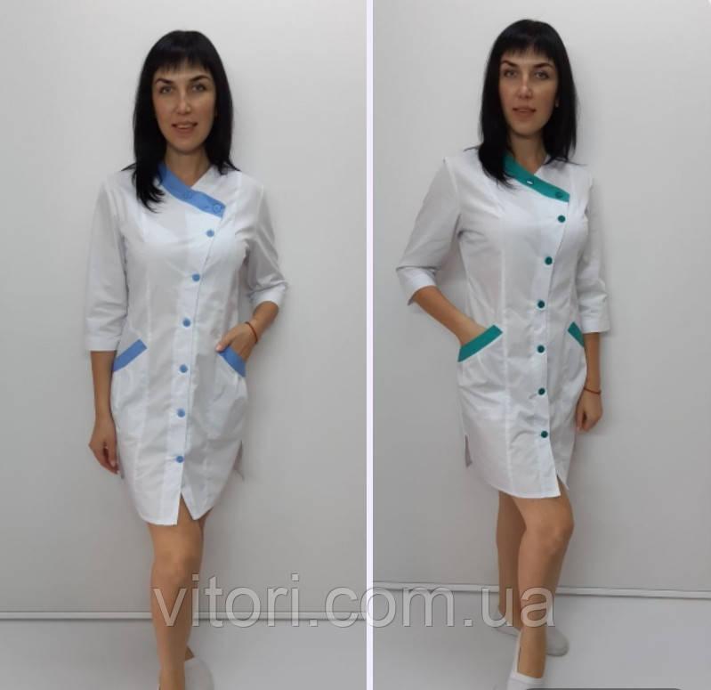 Женский медицинский халат Китай хлопок три четверти рукав
