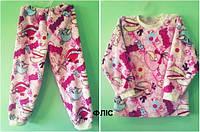 Детская флисовая пижама розовая