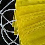 Медицинская маска желтая, 3 слоя ССС (спанбонд, спанбонд, спанбонд), фото 2