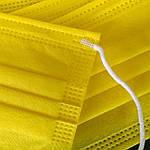 Медицинская маска желтая, 3 слоя ССС (спанбонд, спанбонд, спанбонд), фото 3
