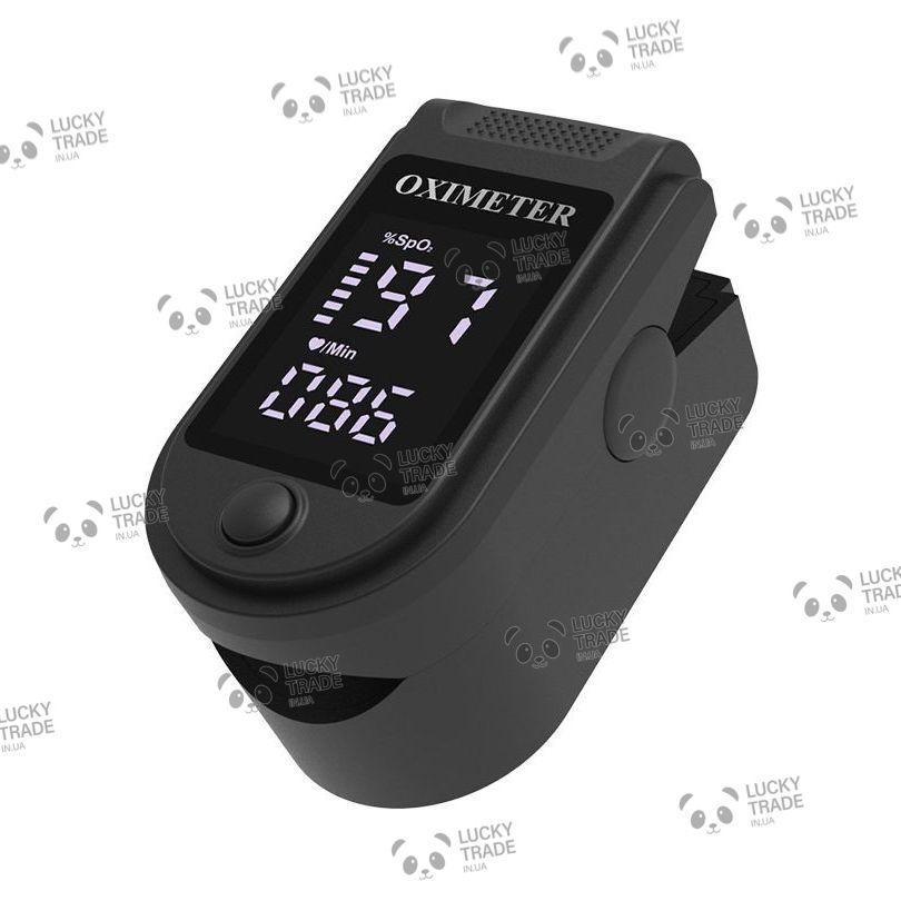 Пульсоксиметр оксиметр на палец для измерения пульса сатурации кислорода Oximeter Черный (YAD-004) [1068]