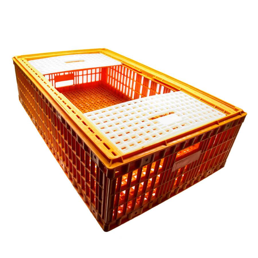 Ящик для перевозки живой птицы с двумя верхними дверцами 96х57х27