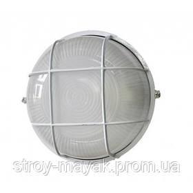 """Светильник настенно-потолочный """"ПРОМ"""" Ecostrum стекло-металл, белый, Е27, 60/75W, IP54 с решеткой"""