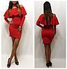 Платье с длинным воланом у горловины (разные цвета), фото 4