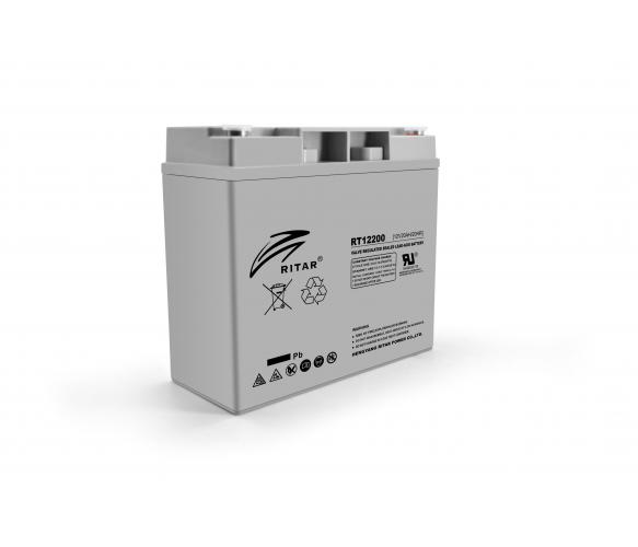 Аккумулятор AGM RITAR - 20 Ач 12 В RT12200, Gray Case, Q4