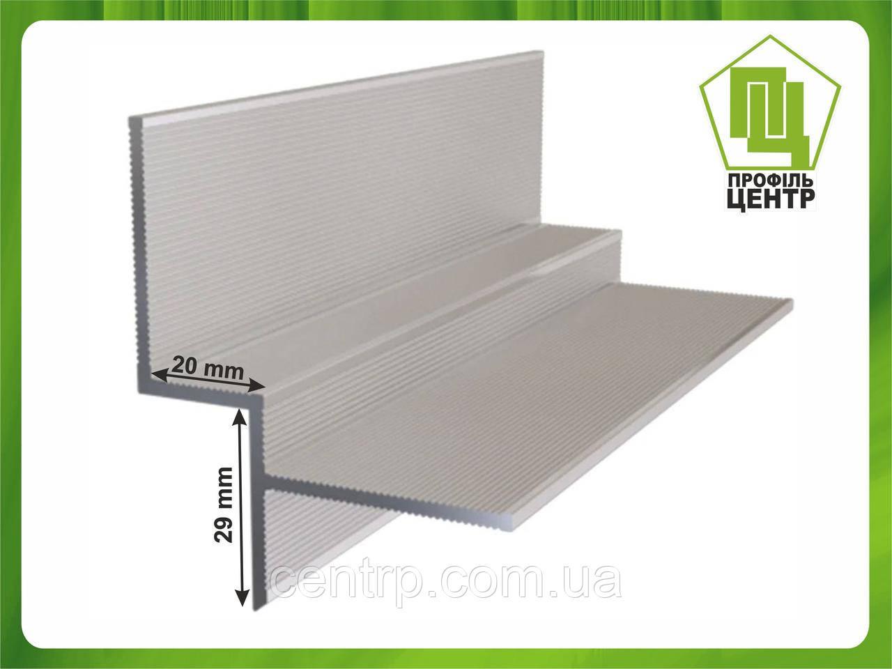 Алюминиевый профиль теневого шва 20 мм