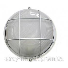 """Светильник настенно-потолочный """"ПРОМ"""" Ecostrum стекло-металл, белый, Е27, 100W, IP54, 240х110мм"""