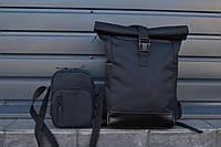 Рюкзак Roll Top + ПОДАРОК  Рюкзак чоловічий - жіночий / Рюкзак для Ноутбука / Рюкзак мужской черный, фото 1