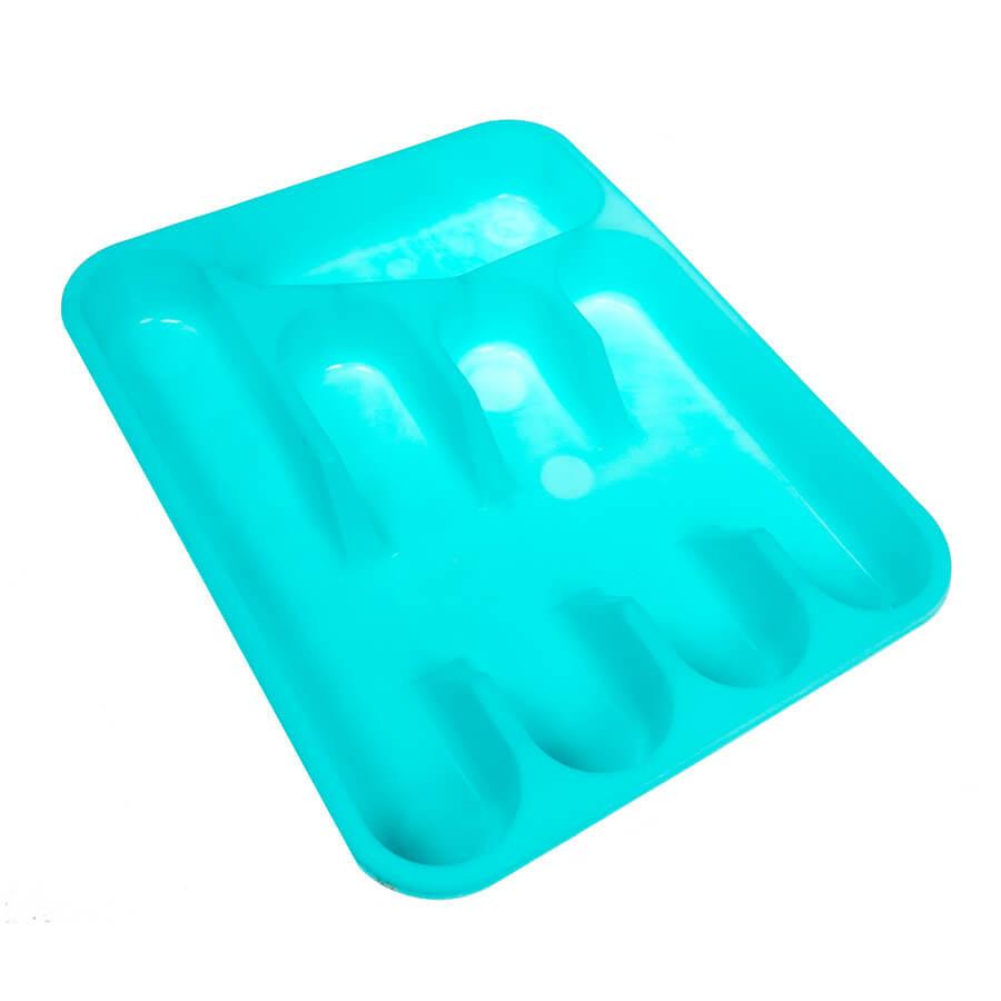 Лоток пластиковый для столовых приборов (бирюзовый)