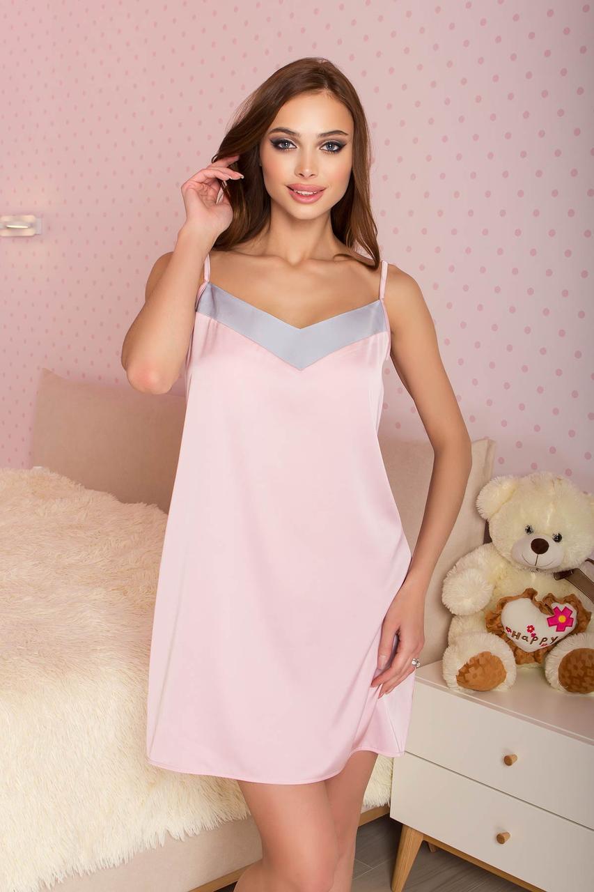 Ночная рубашка шёлковая розовая