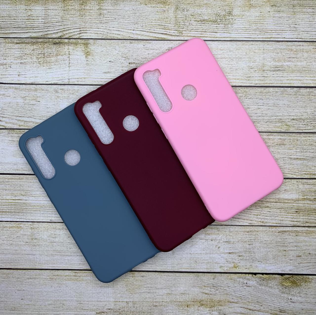 Чехол Xiaomi Redmi Note 8 силиконовый цветной бампер