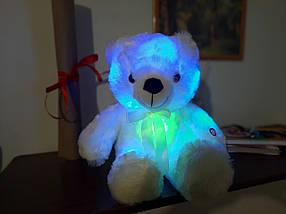 Світиться ведмедик, 45 див. м'який плюшевий ведмедик для подарунка рожевий, фото 3