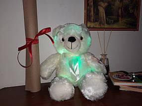 Світиться ведмедик, 45 див. м'який плюшевий ведмедик для подарунка рожевий, фото 2