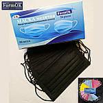 Медицинская маска голубая с мельтблауном, 3 слоя СМС (спанбонд, мельтблаун, спанбонд), фото 8