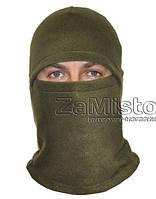 Балаклава зимняя (флис, хаки) шапка-маска