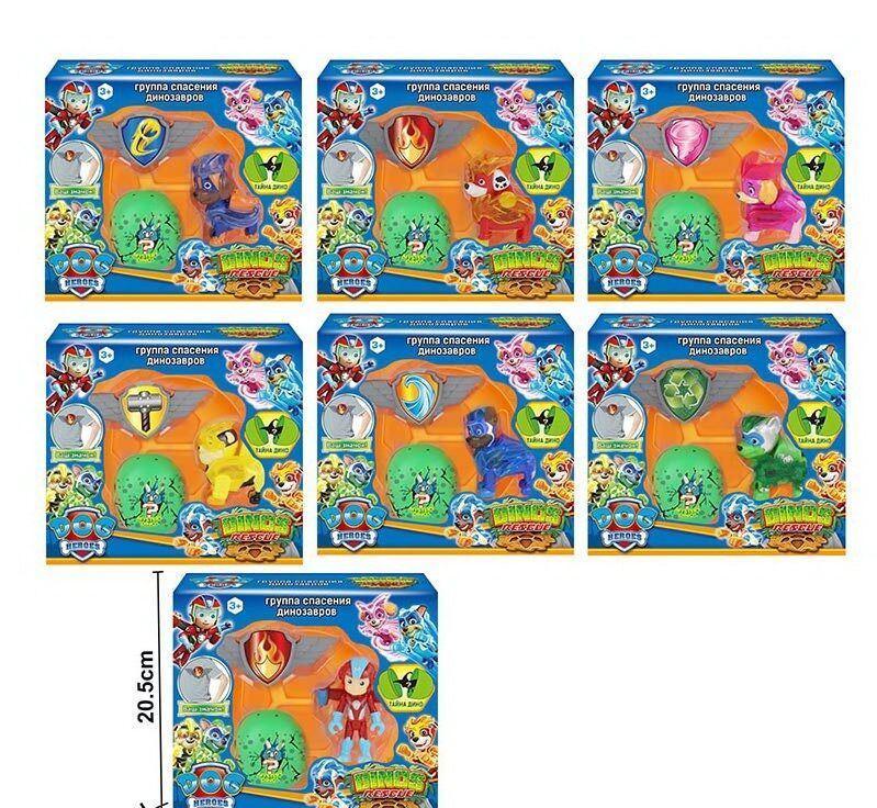 Герои щенки-спасатели 7 видов, в коробке 7142