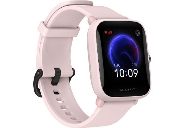Умные часы Smart Watch Amazfit Bip U Pink 5 АТМ счетчик калорий, шагомер, пульсометр