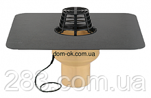 Воронка с полиуретана SitaTrendy с ПВХ или битумным фартуком и системой обогрева, диаметр 110мм
